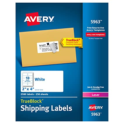 Amazon Avery Shipping Address Labels Laser Printers 2 500
