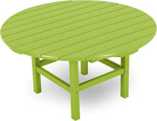 product image for POLYWOOD Round 38-Inch Conversation Table, Lime