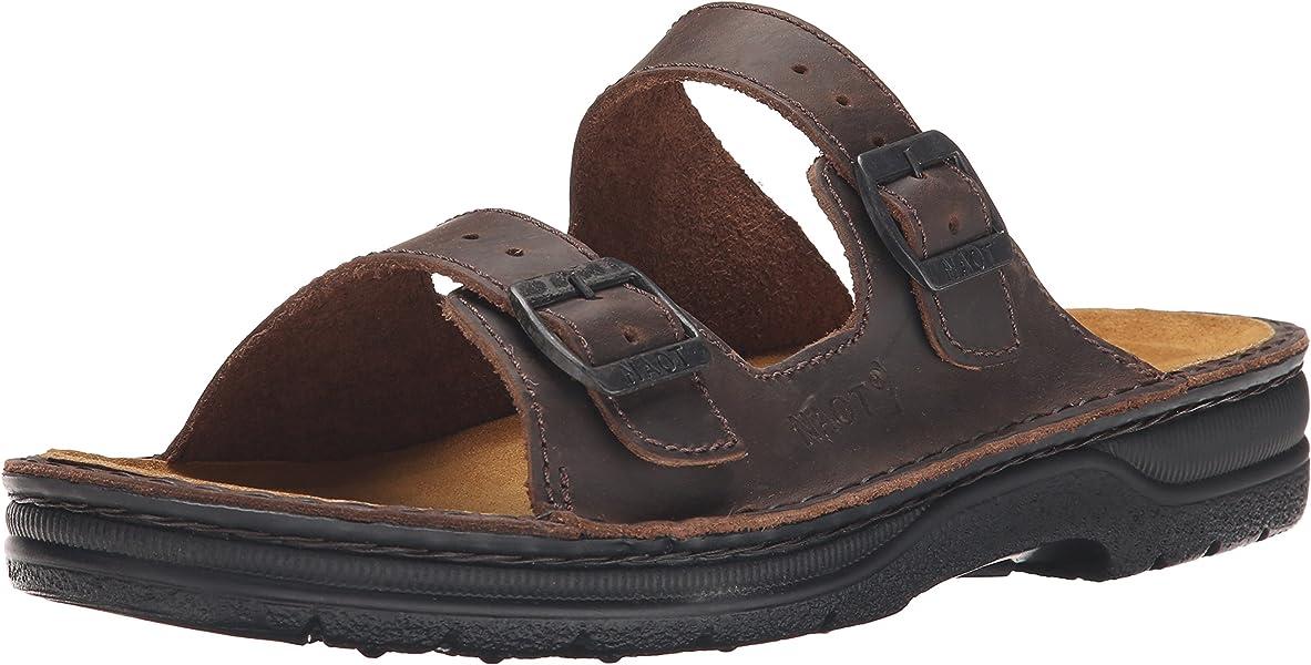 92cc8c9de4cc Naot Men s Mikael Flat Sandal Brown 45 EU 12 M US  Amazon.ca  Shoes ...