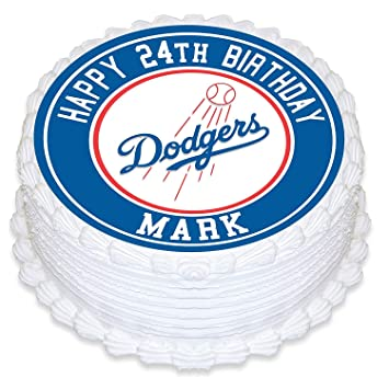 Los Angeles Dodgers Edible Image Cake Topper Personalized Birthday 10quot Round Circle Decoration Custom Sheet