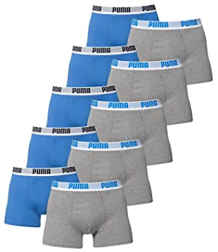 10 er Pack Puma Boxer shorts / blau grau / Size S / Herren Unterhose