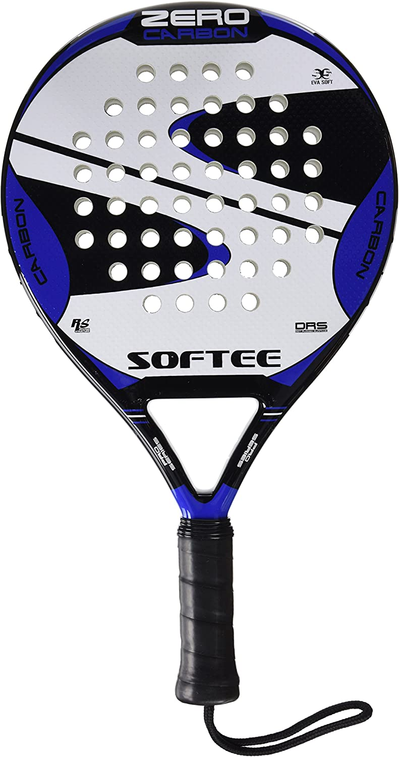 Softee 0013887 Pala pádel, Unisex, Negro/Blanco/Azul Royal, 38 mm ...