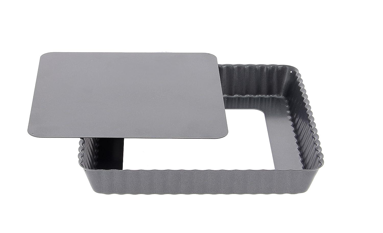 Edelstahl grau 23,6 x 23 x 3,6 cm DeBuyer 4709.23 Tortenform