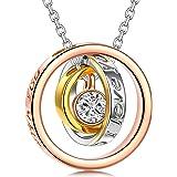 Kami Idea Collar - Siempre - Colgante de Oro Rosa, Regalo para mamá y Amor, Cristal de Swarovski, Embalaje de Regalo…