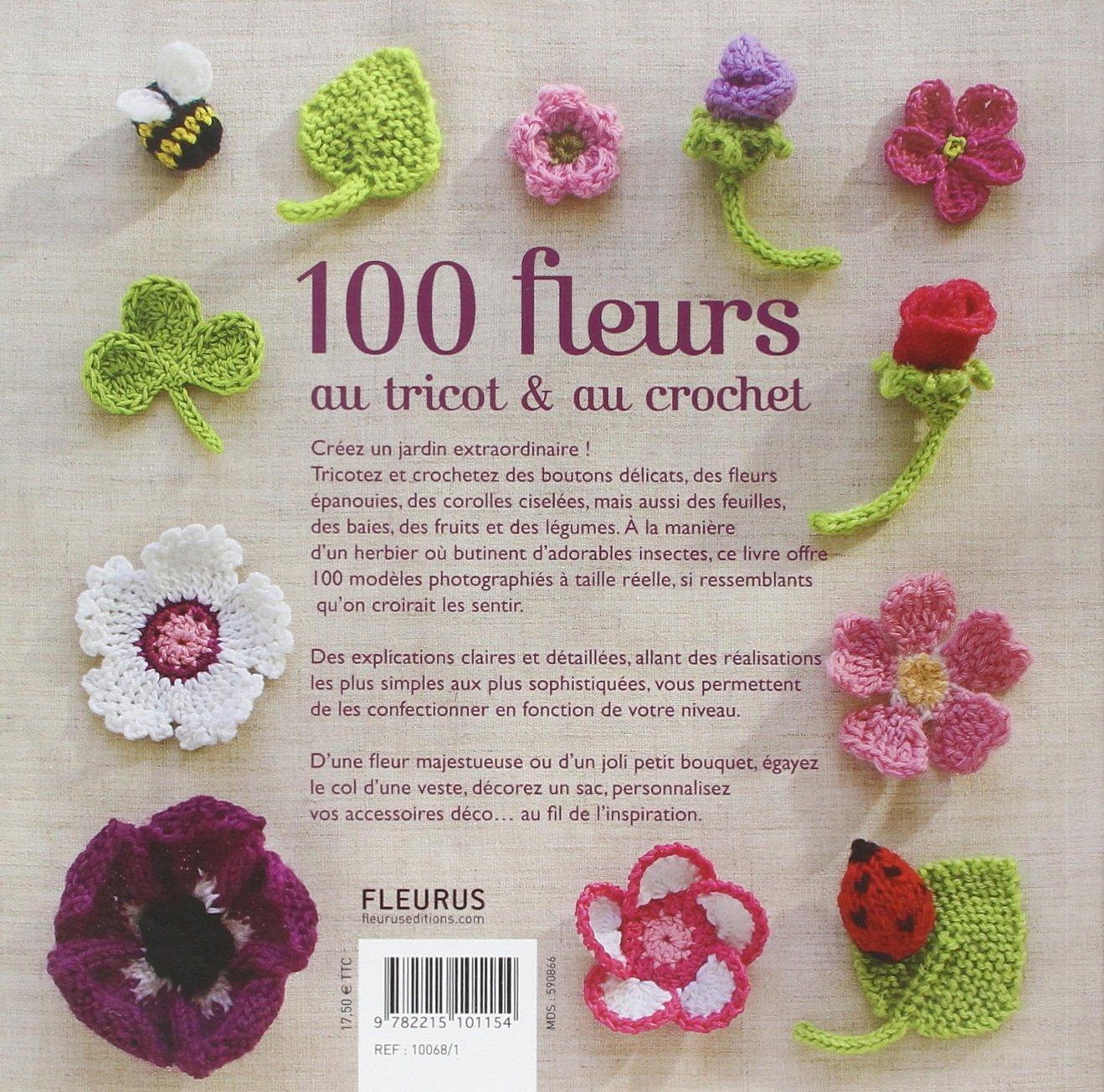 100 Fleurs Au Tricot Au Crochet Lesley Stanfield 9782215101154