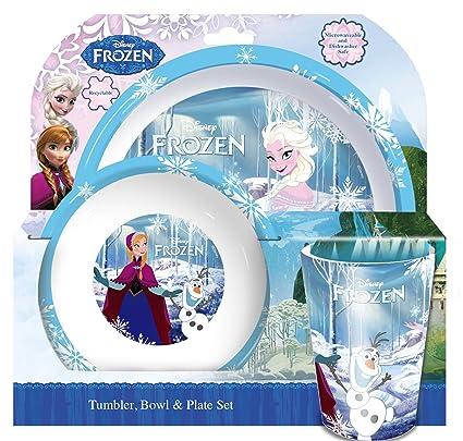 3 pc juego de - Vaso para cepillo de dientes de Frozen Elsa Anna Olof,