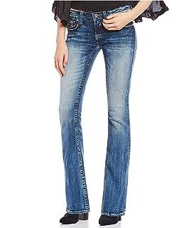 1afb8717fbd Vigoss Women s Chelsea Embellished Double-V Pocket Boot Cut Jeans