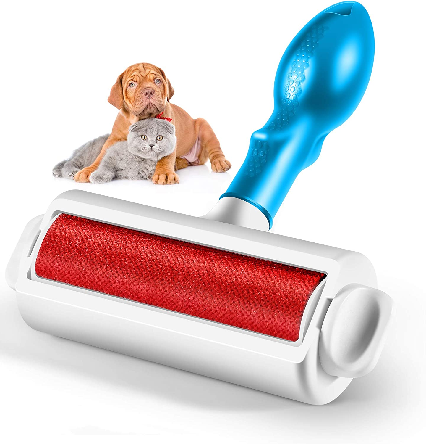 Vanzon Pet Hair Remover - Dog & Cat Hair Remover with Self-Cleaning Base - Remove Dog, Cat Hair from Car, Furniture, Carpets, Bedding, Clothing and More