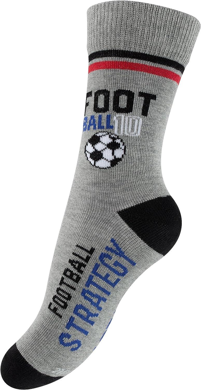 Cotton Prime 6 oder 12 Paar Kinder Fu/ßballsocken Jungen Baumwoll Freizeit Socken