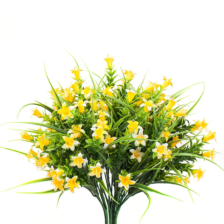 Amazon Com Mixrose Small Artificial Fake Faux Yellow Campanula