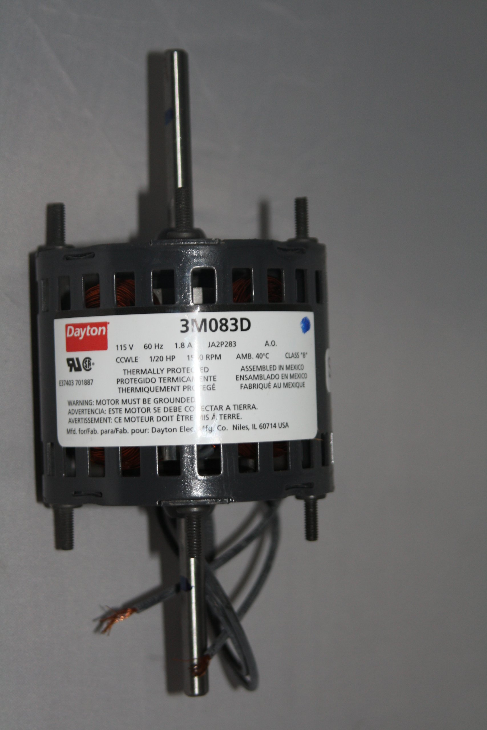 Dayton 3M083 Electric Motor Model