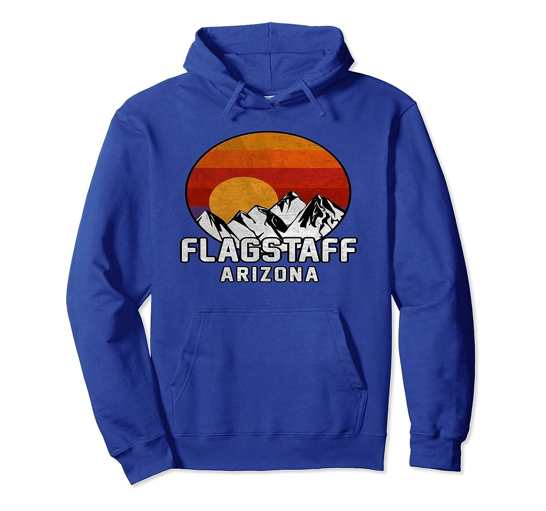 Flagstaff Arizona Retro Mountain Sunset Hoodie-fa