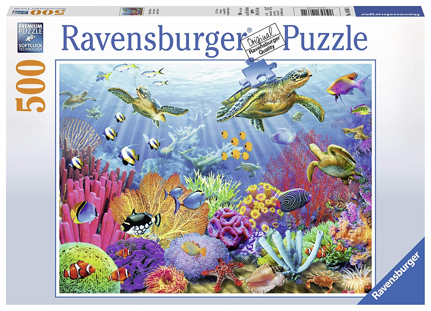 0f96f3b1d806 Amazon.com  Ravensburger Tropical Waters 500 Piece Jigsaw Puzzle for Adults  – Every Piece is Unique