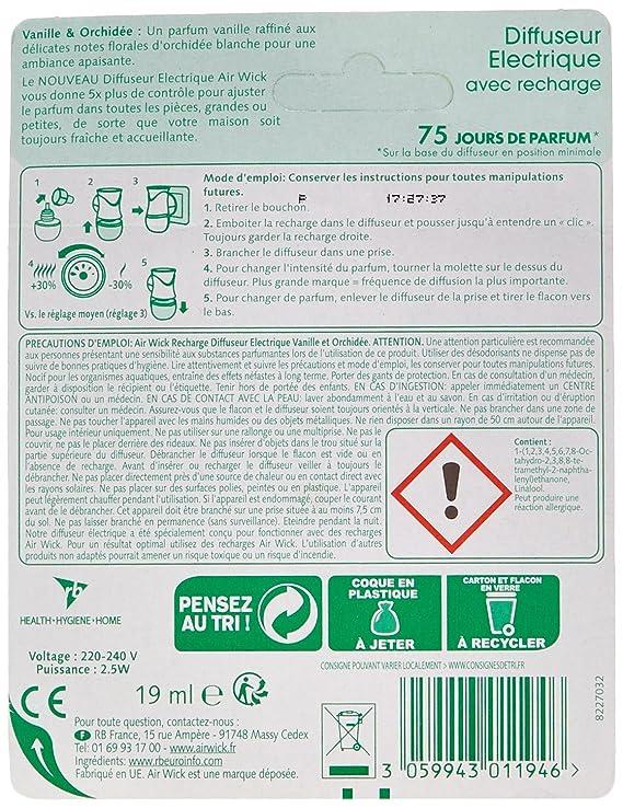 AIR WICK Diffuseur électrique parfum vanille orchidée: Amazon.es: Oficina y papelería