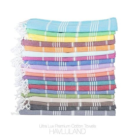 Amazon.com: Venta Conjunto de 6 XL algodón turco Peshtemal ...