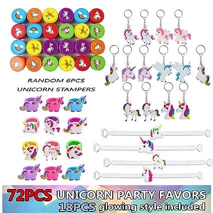 Amazon.com: Unicornio anillo y llavero de Bundle Pack: Toys ...