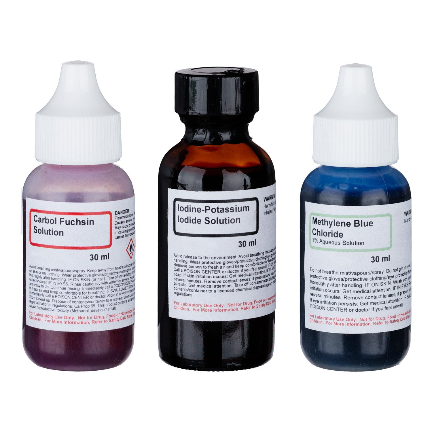 Economy Microscope Slide Staining Kit Includes 3 Stains: Science Lab