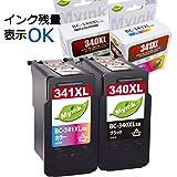Myink リサイクルインクカートリッジ <Canon(キヤノン) 大容量 BC-341XL+BC-340XLBK 2個セット ブラック+3色カラー インク残量検知可能> [PIXUS TS5130/MG4230/MG4130/MG3630/MG3530/MG3230/MG3130/MG2130/MX523/MX513対応]【国際規格ISO9001品質】