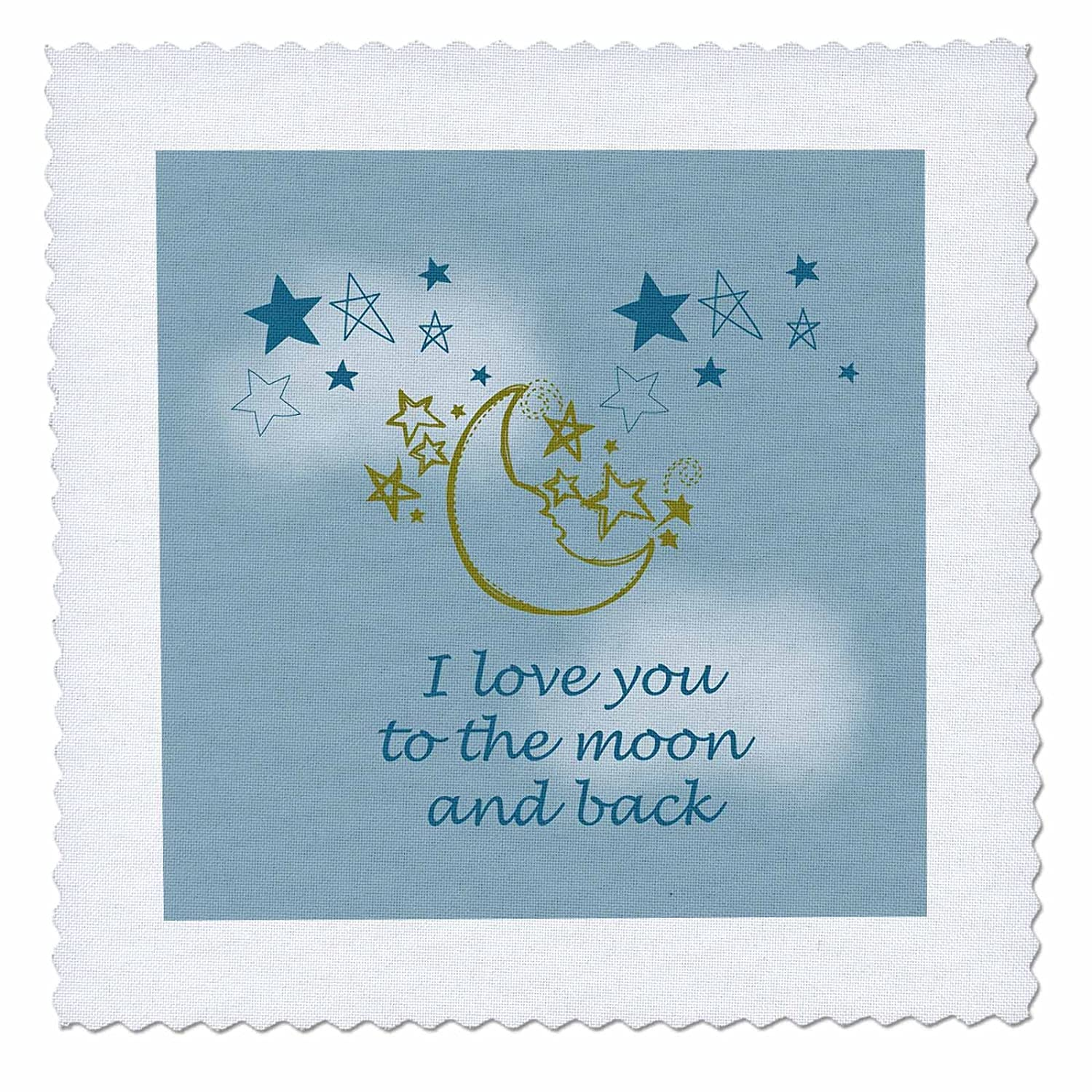 3dRose Love You to The Moon and Back-Quilt Square qs/_155825/_3 8 by 8-inch