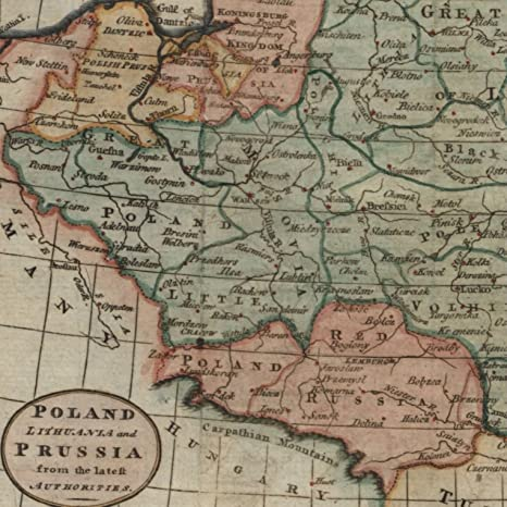 Amazon Com Poland Lithuania Prussia C 1783 Kitchin Engraved Old Map