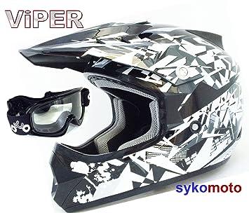 Viper RS-X13 - Popular casco para chicos y chicas para motocross, cuatriciclos y