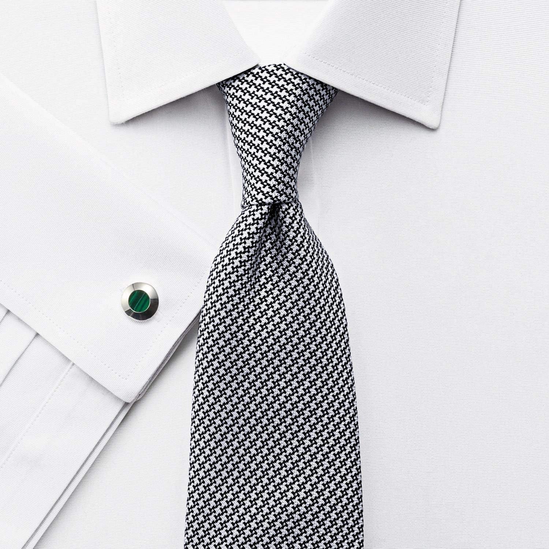 Charles Tyrwhitt camisa de ajuste clásico Ottoman-Tejido blanco (botón brazalete): Amazon.es: Ropa y accesorios