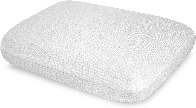 "SensorPEDIC Classic Comfort Bed Ventilated iCOOL Technology Standard Memory Foam Pillow, 14"" x 22"", White"