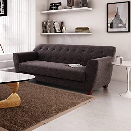 Amazon.com: Mindy Sofa, Charcoal: Kitchen & Dining