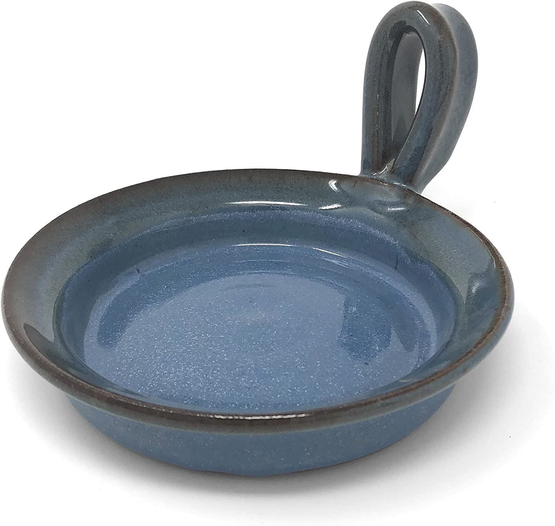 MudWorks Pottery Mini Microwave Omelet Maker, Barrington Blue