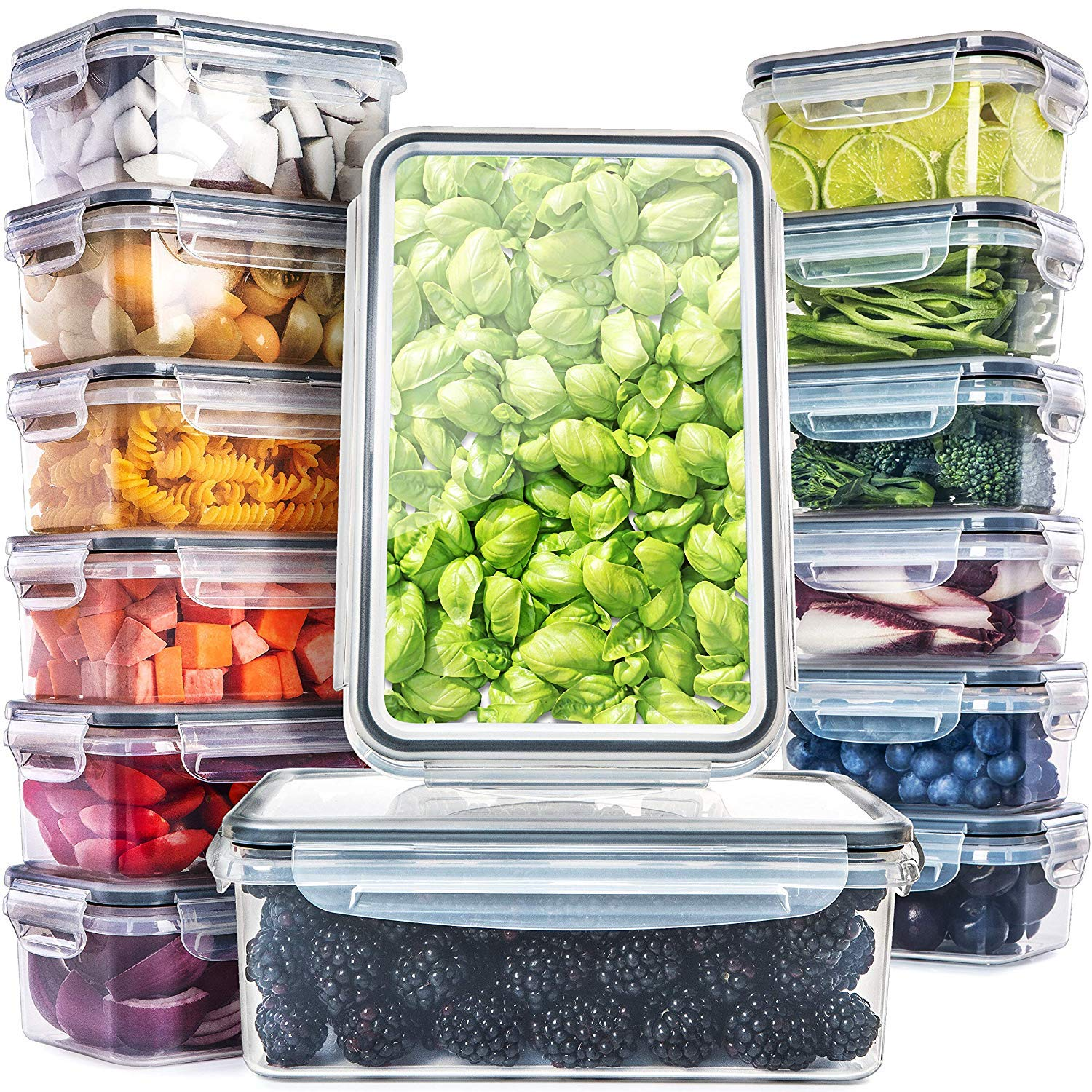 Fullstar Food Storage Containers with Lids (14 Pack) - Plastic Containers with Lids BPA-Free by Fullstar