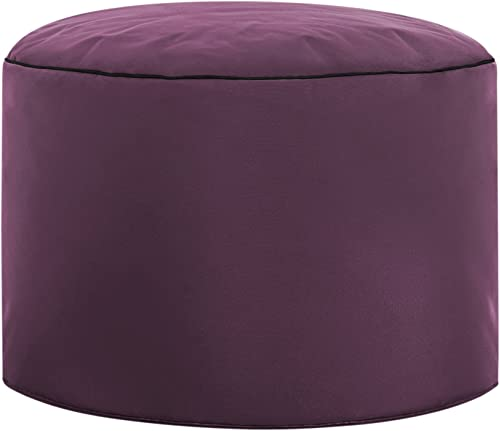 Gouchee Home Brava Pouf Collection Contemporary Polyester Upholstered Round Pouf/Ottoman