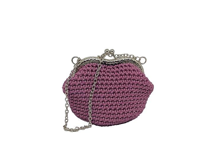CLARA - Italian Handmade - Monedero hecho a mano. Crochet ...