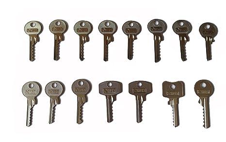 Juego de llaves maestras universales (bump keys - 13 llaves bumping)