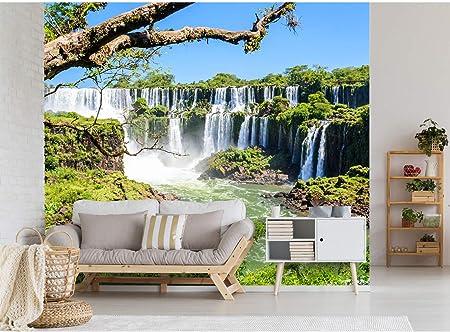 Fotomural Vinilo para Pared Cataratas de Iguazú | Fotomural para Paredes | Mural | Vinilo Decorativo | Varias Medidas 150 x 100 cm | Decoración comedores, Salones, Habitaciones.: Amazon.es: Hogar