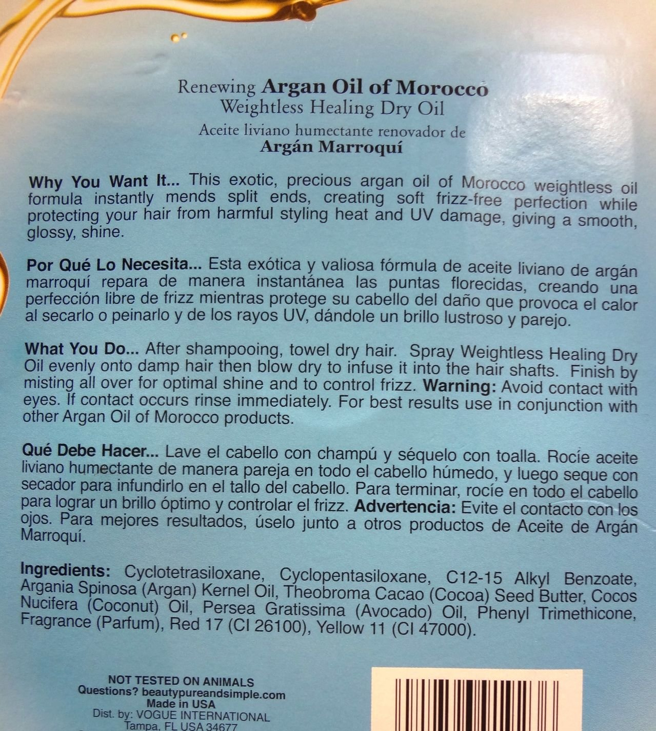 Amazon.com: Organix 2-4fl OZ renewing argan oil of morocco, 8FL OZ: Health & Personal Care