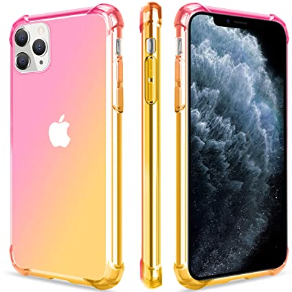 Salawat for iPhone 11 Pro Max Case, Clear Cute Gradient iPhone 11 Pro Max  Phone Case Slim Thin Anti Scratch TPU Cover Shockproof Protective Case for