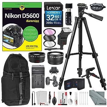 Amazon.com: Nikon d5600 para dummies + Accessory Bundle ...