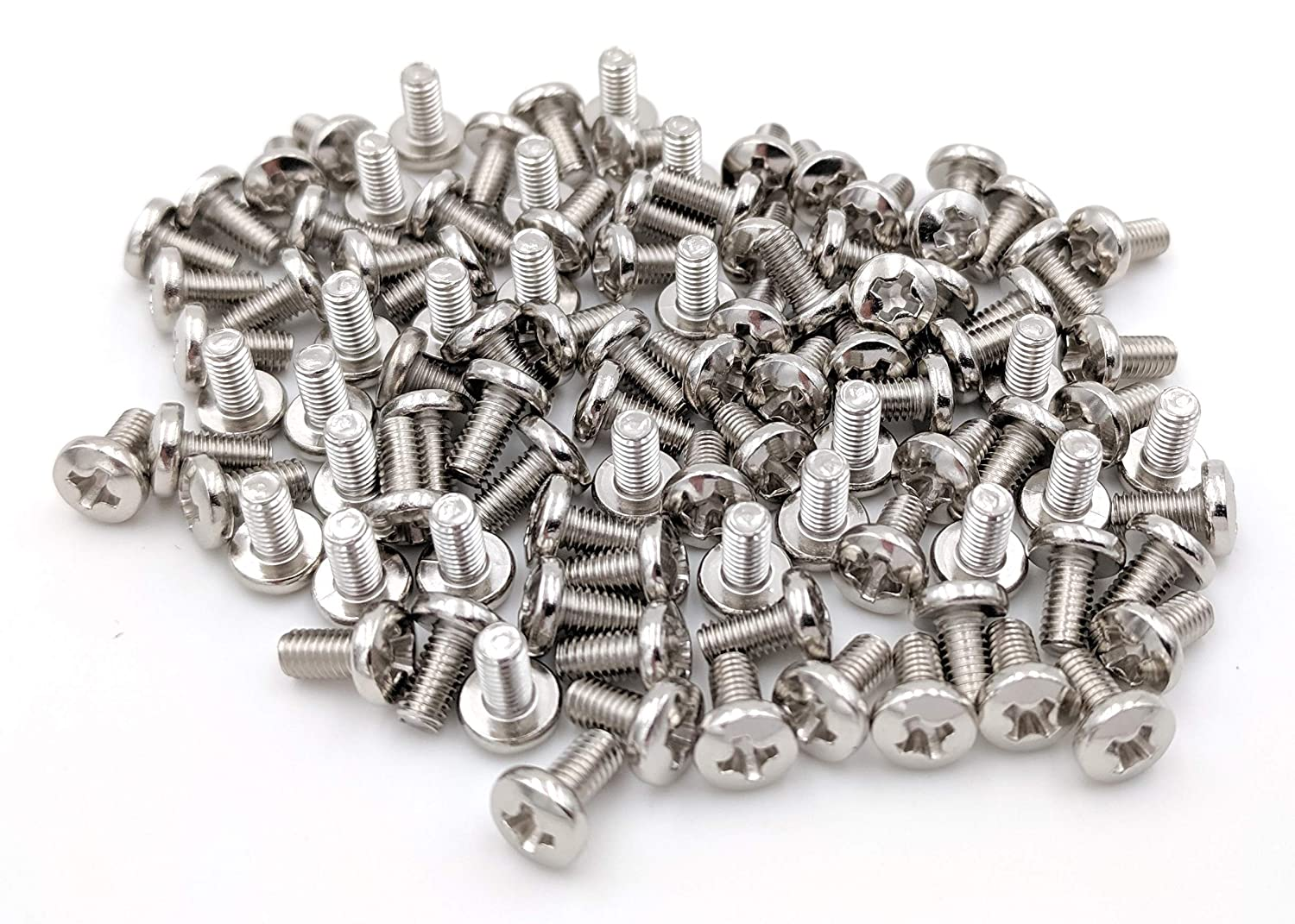 50-Pack Nickel Plated Chrome Cabinet 50 Screws for CB and 10 Meter Radios Cover