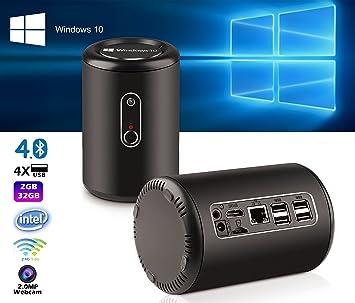 Pugo Top Windows 10 Smart TV Box Mini PC & Media Streaming Player-Intel Bay Trail Atom Quad Core Z3735F 1.8GHz, 2GB RAM, 32GB ROM, HDMI y WiFi y Bluetooth 4.0: Amazon.es: Electrónica