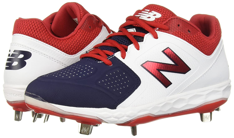 New Balance Women's Velo V1 Metal Softball Shoe B075R7DHKB 6 D US|White/Red