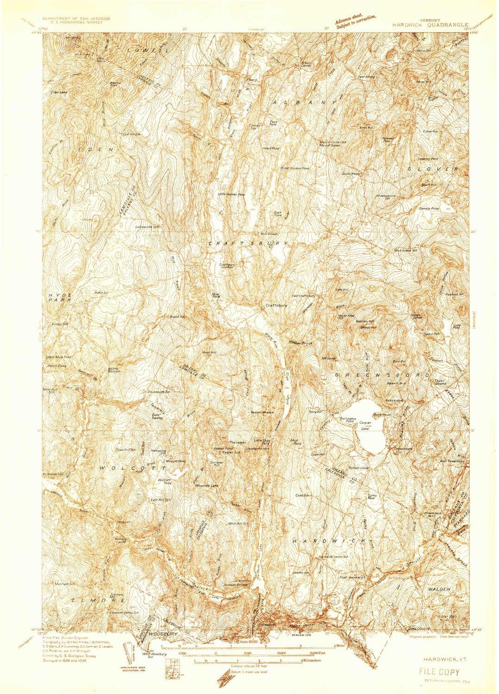 Amazon.com : YellowMaps Hardwick VT topo map, 1:48000 Scale, 15 X 15 ...