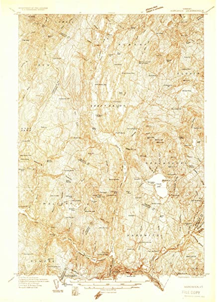 Amazon Com Yellowmaps Hardwick Vt Topo Map 1 48000 Scale 15 X 15