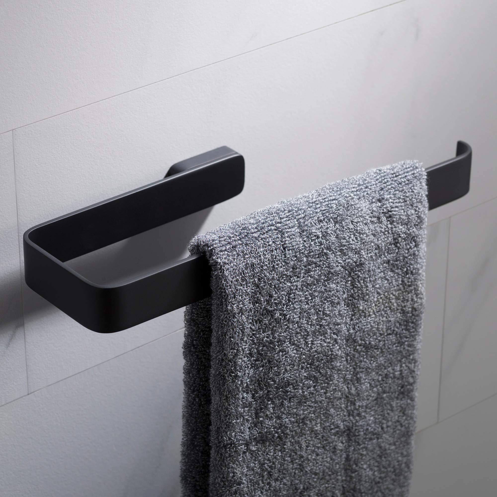 KRAUS Stelios Bathroom Towel Ring, Matte Black Finish, KEA-19925MB