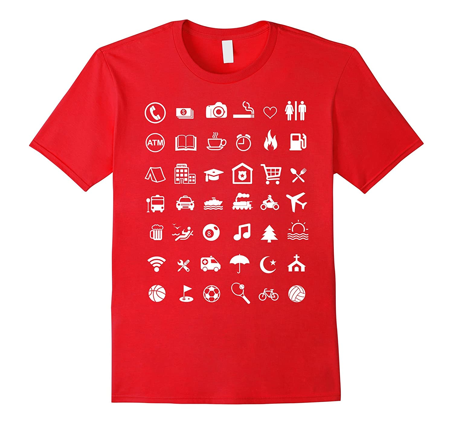 [42 Icon] Traveler Icons T-Shirt - Best Travel Guide TShirt-TH