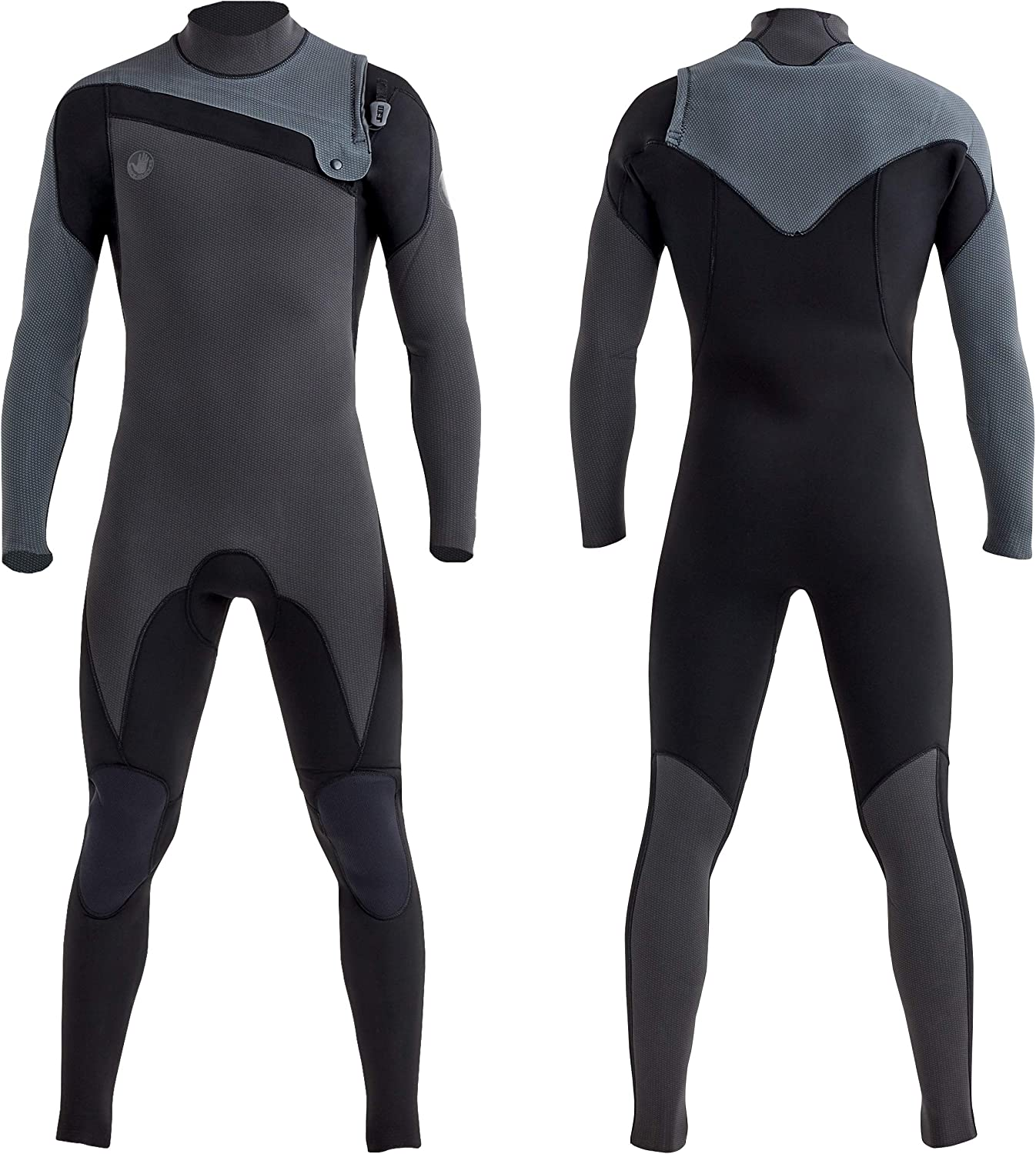 Scubadonkey Surfing Full Body Wetsuit for Men 3mm Neoprene Shark Skin Chest Panel Super Stretch Neck and Cuffs