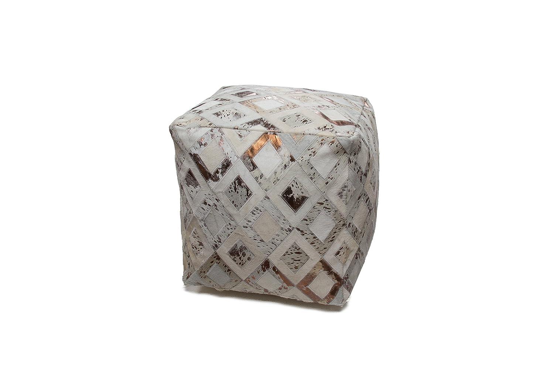 ME Mischa Emons Sitzsack Hocker Gr. 45cm x 45cm, Elfenbein / Chrome