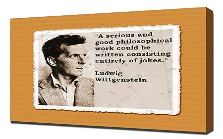 Ludwig Wittgenstein Quotes 4 Canvas Art Print Canvas 60 X 90 X 5