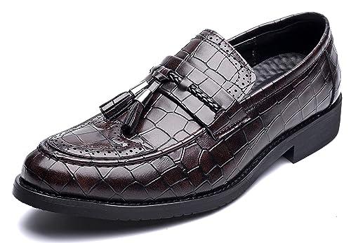 NXY De los Hombres Vendimia Cuero Borla Mocasines Acento irlandés Boda Vestir Fiesta Trabajo Zapatos Formales: Amazon.es: Zapatos y complementos