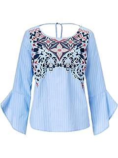 6b0355432b610d Sienna Damen Spitzenshirt Off-White: Amazon.de: Bekleidung