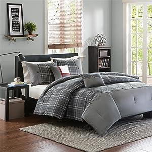 Intelligent Design Daryl 5 Piece Comforter Set, Grey, King/California King